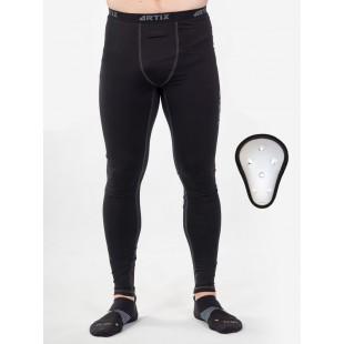 Компрессионные штаны с ракушкой Artix Fit Black
