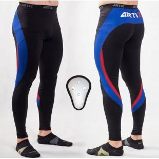 Компрессионные штаны с ракушкой ARTIX Fit Blue-Red