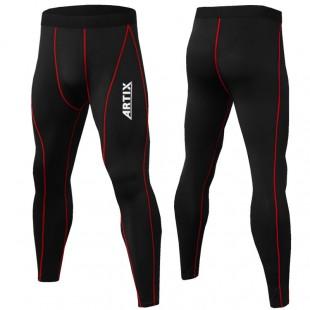 Компрессионные штаны Artix Red Stripes