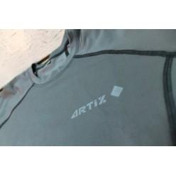 Рашгард ArtiX Green Metallic с коротким рукавом